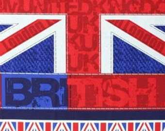 Timeless treasures London and British Flag panel