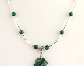 Malachite Necklace. Listing 463349069