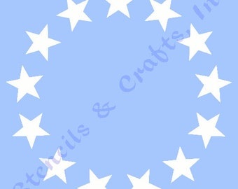 50 stars stencil etsy 150 star circle stencil 13 stars stencils stars celestial template templates craft pattern publicscrutiny Image collections