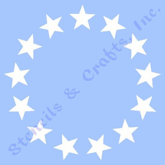 "1.50"" STAR CIRCLE STENCIL ""13 stars"" stencils stars celestial ..."
