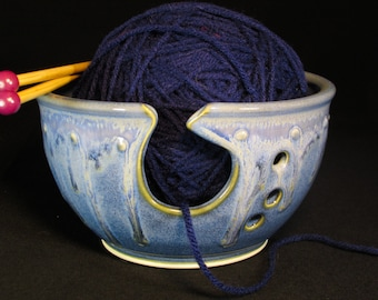 Bowl For Knitting - Bowl Yarn - Bowl For Yarn - Yarn Bowl Ceramic - Clay Yarn Bowl - Ceramic Yarn Bowl - Handmade Yarn Bowl - In Stock