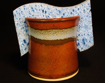Sponge Organizer - Sponge Caddie - Sink Holder - Ceramic Sponge Dish - Ceramic Spongeholder - Kitchen Sponge Dish - In Stock