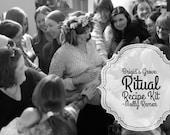 Ritual Recipe Kit for Women's Ceremonies (digital kit, mother blessings, maiden ceremony, menarche, crone, sagewoman)