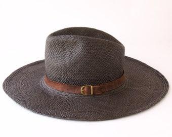 Black Panama Straw Fedora Hat Women's Hat Men's Hat Spring Fashion Sun Hat Spring Accessories Wide Brimmed Fedora Hat Summer Beach Hat