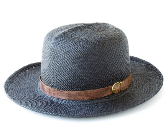 Panama Straw Hat Black Wide Brimmed Straw Hat Spring Fashion Sun Hat Spring Accessories Optimo Panama Hat Safari Hat Travel Hat Tropical Hat