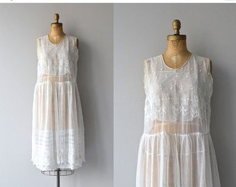 25% OFF.... Comme L'Air dress | 1920s embroidered dress • vintage 20s dress