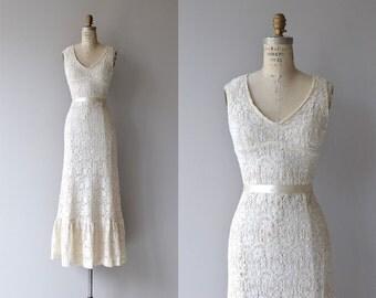 Jacinta crochet wedding gown | vintage 1960s wedding dress | crochet lace 60s wedding dress