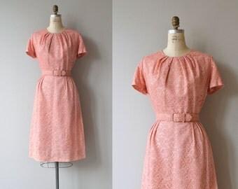 Edda in Love dress | vintage 1950s dress | pink lace 50s dress