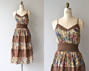Sukha sundress | vintage indian cotton dress | 1970s floral dress