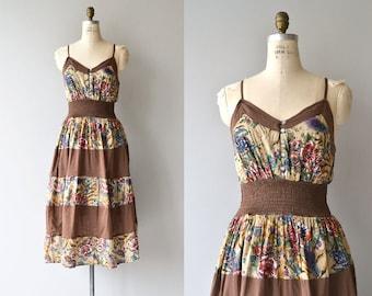 Sukha sundress   vintage indian cotton dress   1970s floral dress