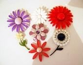 Vintage Flower Brooch Collection Seven Blooms