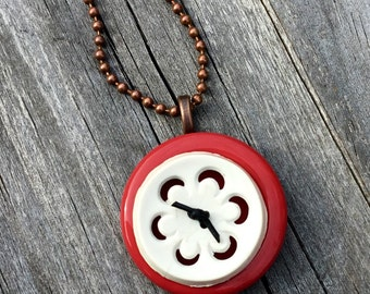 One of a Kind Vintage Button Pendant