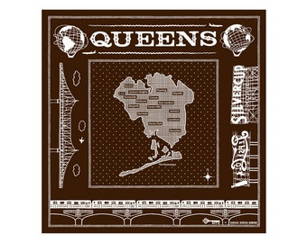 Queens bandanna - brown