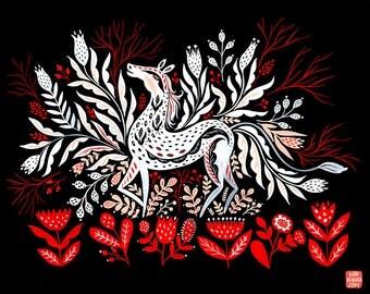 Folk Horse art print