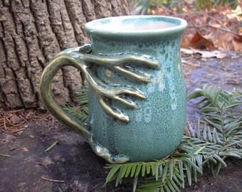 Tree  mug for the nature lover, generous 15 oz. capacity,  tea mug , coffee mug, handmade mug, favorite mug