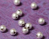 ON SALE NOW Sterling Silver Beads 4mm Round Matte Finish  - 50 beads
