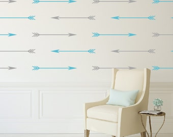Arrow nursery wall decals for kids, Peel and stick wall decals, Wall stencils, Kids wall stickers for bedroom, Wall designs, Vinyl decal 393