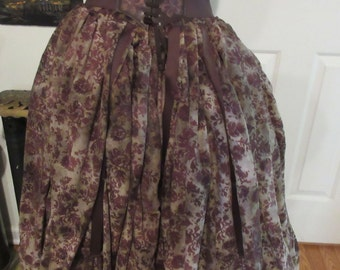 Steampunk Victorian pirate  skirt small, med, large , xl  plus sizes 2xl, 3xl, 4xl full skirt 336 inch around  bottom full adjustable waist