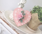 Vintage Valentine's Day Candy Box * Pink Heart & Rose * Shabby Cottage Chic * Lily of the Valley * Barton's
