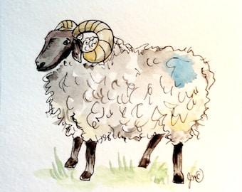 Irish sheep quilting fabric