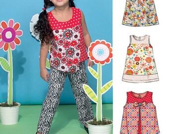 GIRLS CLOTHES PATTERN / Summer Top - Dress - Shorts - Pants / School - Play