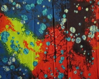 Groovy Psychedelic Cosmic Spattered Tie Dye Polyester Nylon Fabric 3.75+ yards