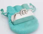 Tiffany & Co Sterling Silver Doctor's Bag Pill Box - Vintage