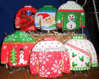 Ugly Sweater Cookies - 12 Cookies