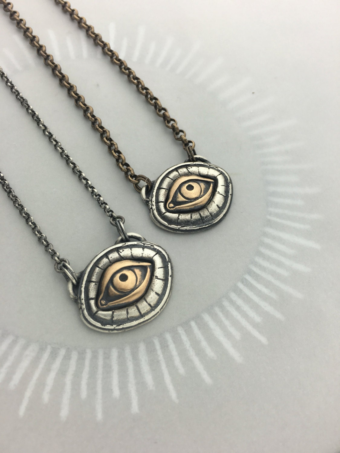 illuminati all seeing eye talisman protective amulet necklace