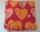 Fleece Blanket -- Valentine Theme