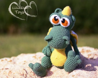 Crochet toy Amigurumi Pattern - Little dragon.