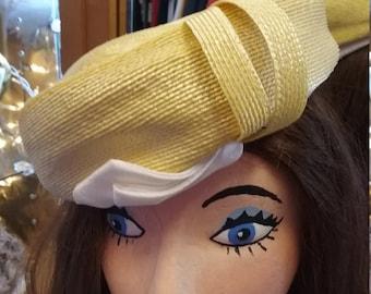 Vintage Creamy Yellow Hat