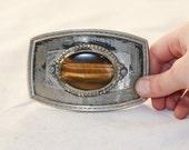 Vintage 1970s Tiger's Eye belt buckle