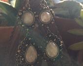 Lacey chandelier drop earrings