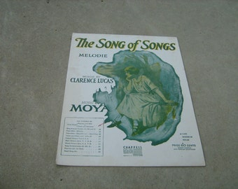 1914  vintage sheet music ( The song of songs  ) melodie