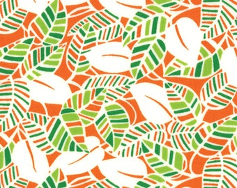 Eat Your Fruits and Veggies 1 & 1/2 Yard Remnant 43002-16 Green Orange