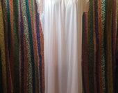 Vintage lace and nylon baby pink pastel night gown sz medium