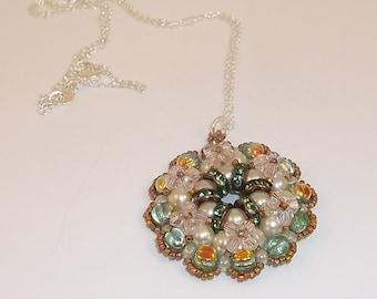 Crystal Pearl Pendant - 1372