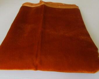 Vintage fabric Silk Velvet Topaz Silky Velvet Fabric 1 yard Golden Topaz