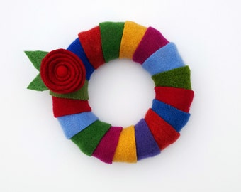 Rescued Wool Wreath - Wool Wrapped Wreath - recycled wool wreath by alicia todd