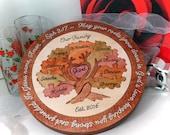 Family Tree Unity Ceremony Wedding Puzzle Custom Designed Personalized Christmas Gift OOAK Blended Family Wedding Gift Wooden Tray Puzzle
