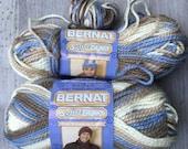 Bernat Softee Chunky - nature's way- 100% Acrylic -Destash yarn