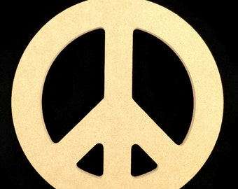 3 Unpainted 8'' Peace Signs Made from 1/2'' MDF w/ Keyhole for hanging. 5-8-12