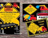 Construction Birthday Party, Construction Birthday Invitations, Boys Birthday Party Decorations, DIY PRINTABLE, Construction Backdrop