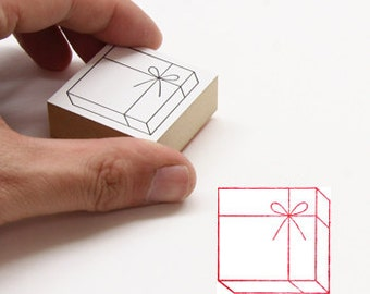 Gift Stamp - Cube / Cylinder - Japanese Wooden Stamps