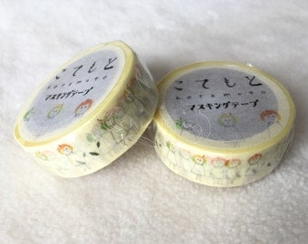 kotemoto Washi Masking Tape - GreenFlash - Sparrow / Plum
