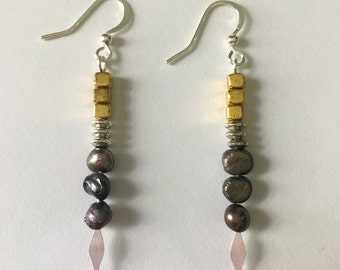 Drop Earring Fresh Water Pearls