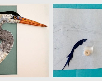 The Heron Bead Embroidery Tutorial and Kit.