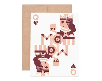 Queen Mom Letterpress Greeting Card - Mother's Day Card | Mom  | Greeting Cards | Letterpress Cards