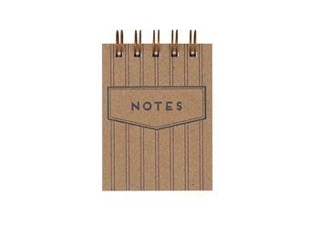 Mini Pinstripe Jotter - Notebook | Journal | Pocket Notebook | Spiral Bound | Blank Pages